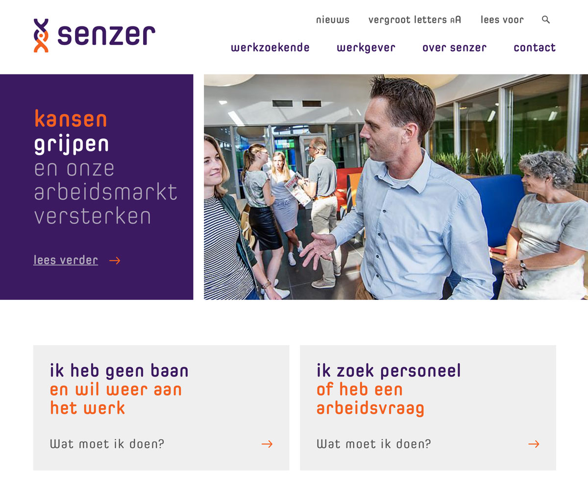 Senzer website