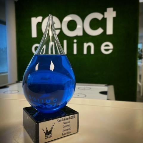 Splash Award voor React online